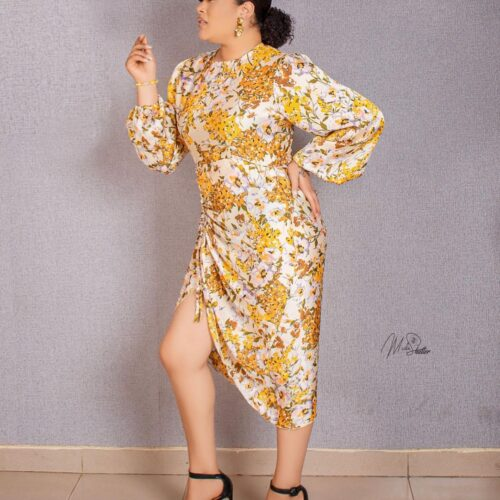 Style Stalking: Adunni Ade Oozes Gorgeousness In Floral Midi Dress