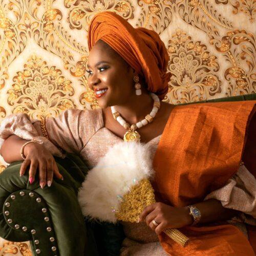 """""""Queen Of Queens"""" Kehinde Olorunyomi Melts Hearts In Yoruba Traditional Regalia"""