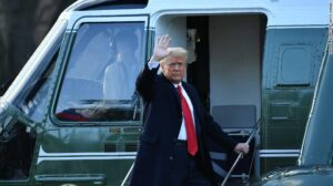 We Accomplished A Lot – Donald Trump As He Leaves White House For The Last Time
