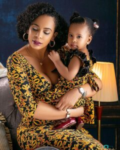 Mother-Daughter Goals! TBoss And Daughter Sizzle In Matching Outfits