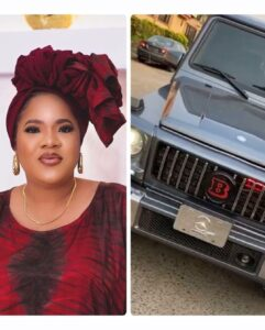 Toyin Abraham Acquires A New Ride, Mercedes Benz Brabus Worth Millions Of Naira
