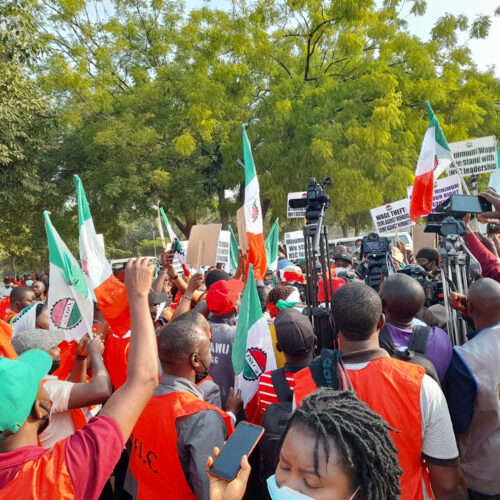 Minimum Wage: Members Of NLC And TUC Embark On Nationwide Protest, See Photos