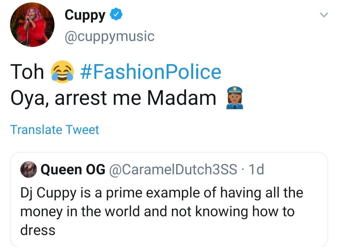 dj cuppy dress