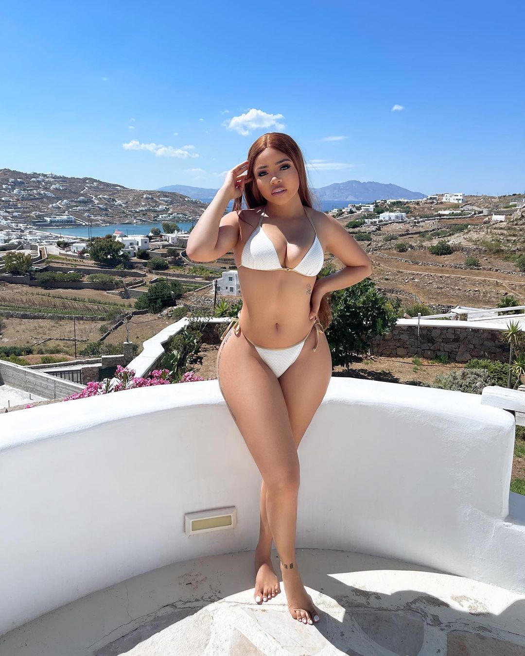 Sun, Sea & Swimwear: BB Naija Nengi Shows Off Her Curves In Sultry Swimsuit