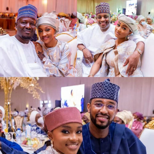 Beautiful Photos Of President Buhari's Daughters And Their Partners