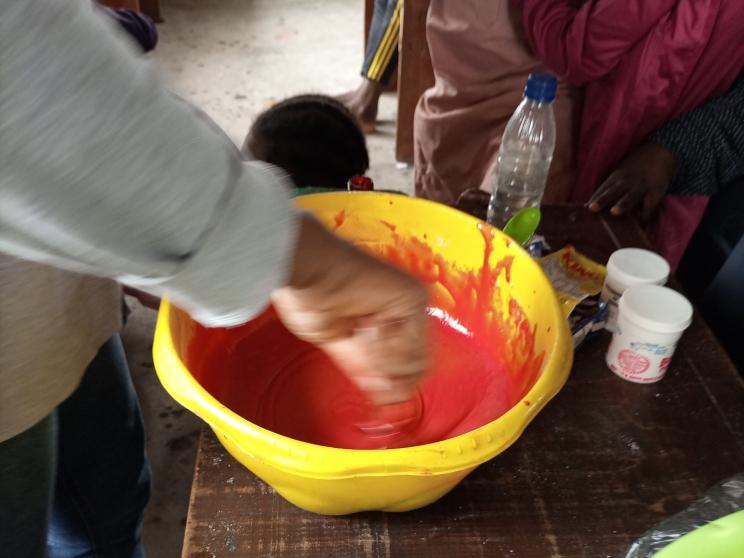 Red velvet cake making