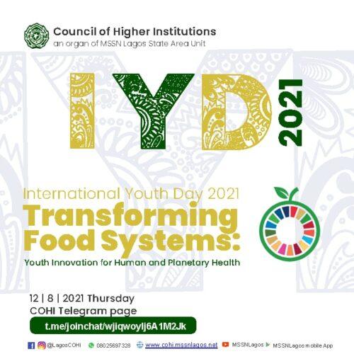 IYD 2021: COHI Celebrates Nigerian Youths, Seeks Fruitful Engagements